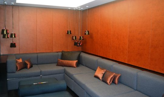 Leather Walls, Grosvenor House Apartments